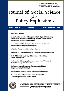 Journal of Social Science for Policy Implications (JSSPI)